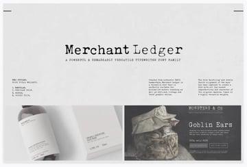 Merchant Ledger - Font Pack