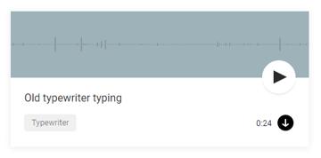 The old typewriter typing sound from Mixkit