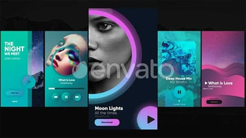 Instagram music layout examples