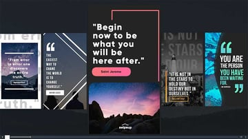 Instagram quotes layout examples