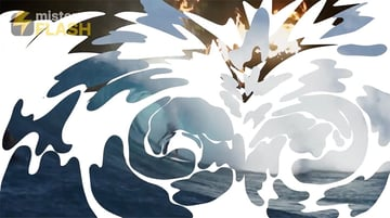 Ocean spalsh animation frame