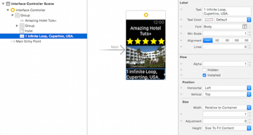 Hotel label address