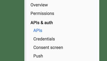 APIs Auth location in nav