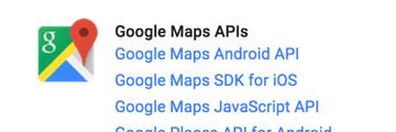 Google Maps API item