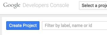 Create Project Button on the Google Cloud Platform