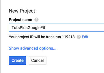New Project Naming Field on the Google Cloud Platform