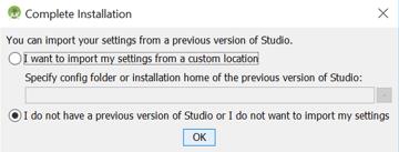 Import Android Studio Settings