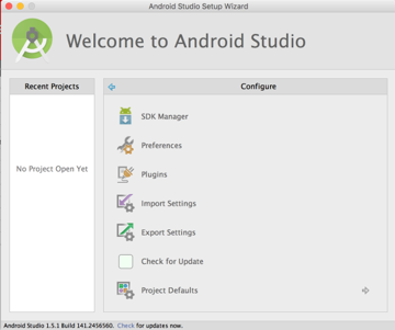 Configure Android Studio