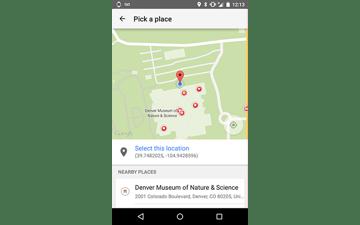Places API Place Picker