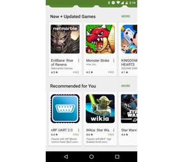 Carousel Pattern in the Google Play Store