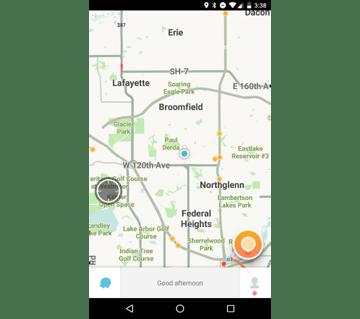 Map Home Screen in Waze