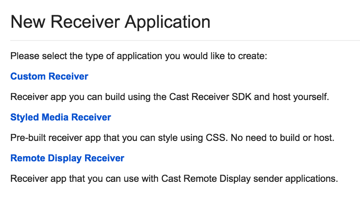 New receiver application types