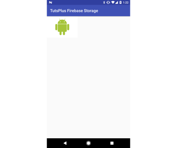 Image downloaded from Firebase storage displayed in app