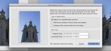 lightroom edit capture time