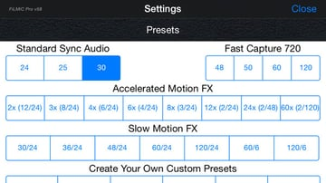 filmicpro settings