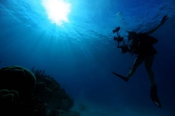 diver photographing