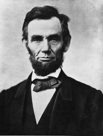 Abraham Lincoln - head shoulders portrait