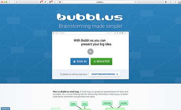 bubblus web mind mapping software tool