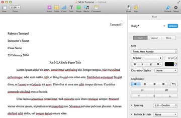 Adding filler text to Pages document