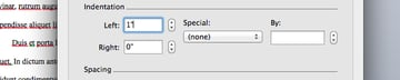 Change text indents in Microsoft Word