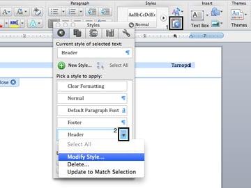 Modify styles in Microsoft Word