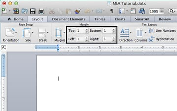 Set document margins in Microsoft Word