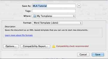 Save Word Template in Microsoft Word