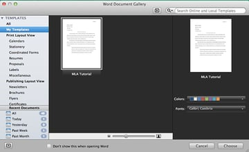 Choose your own templates in Microsoft Word