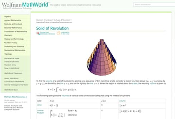 Wolfram MathWorld gives extremely detailed information about different mathematical concepts