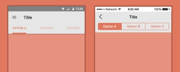 Segmented controls on Android and iOS