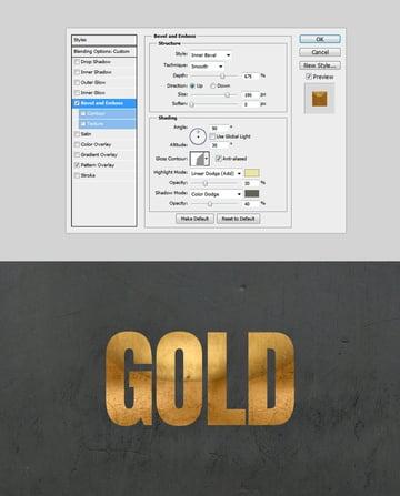 Metallic Bevel  Emboss 3D Photoshop style