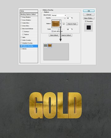 Metal style photoshop Pattern Overlay