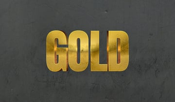 3D Golden text effect photoshop