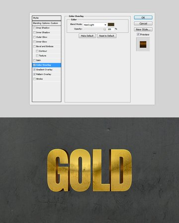 Golden Color Overlay