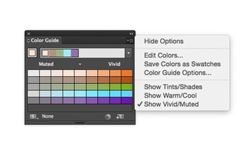 Color guide panel