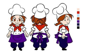 Character flat colors