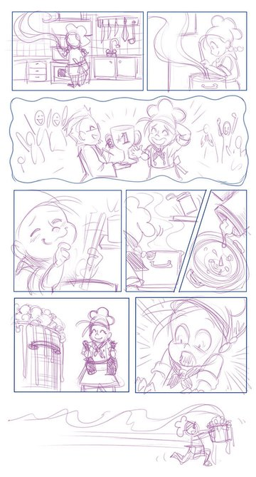 Comic layout sketch