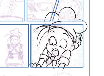 Inking a panel ignoring frame borders