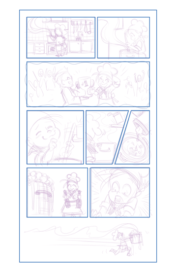 Rectangle objects as panel placeholders in the comic