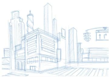 City rough sketch