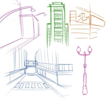 City reference sketches
