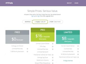 Strikinglys pricing plans