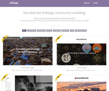 See what the Strikingly community is building