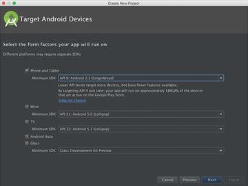 Set Minimum Android SDK