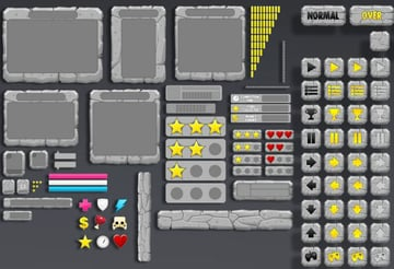 A Texture Atlas with some UI elements