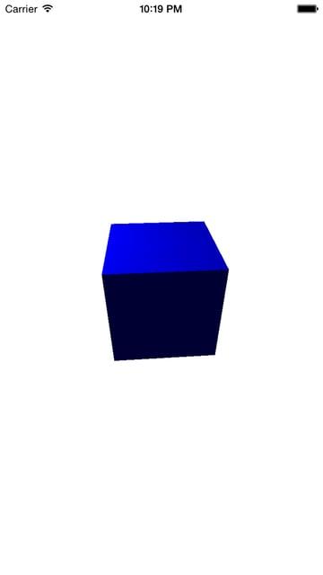 Initial 3D scene
