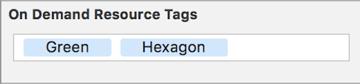 Green Hexagon tags