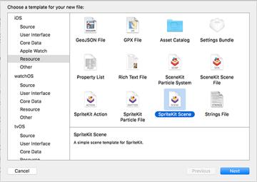 SpriteKit Scene File