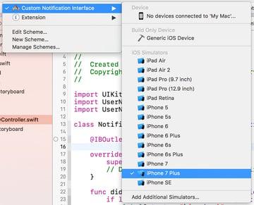iOS Application Target