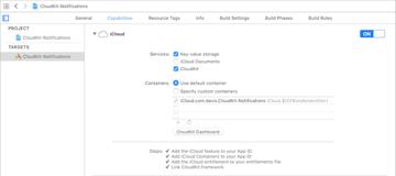 Enabling iCloud and CloudKit